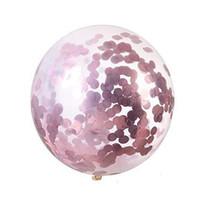 36inch конфетти пришивания шары Очистить Latex шар для венчания День рождения Halloween Party украшения шары 8 Цвет HHA943