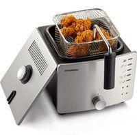Freidora eléctrica termostática para el hogar máquina de freír sin humo, pequeña astilla, freidora, cesta de acero inoxidable con filtro de aceite
