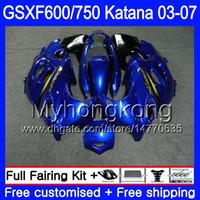 GSX600F For SUZUKI GSXF 600 750 GSXF600 2003 2004 2005 2006 2007 293HM.29 GSXF-750 glossy blue frame KATANA GSXF750 03 04 05 06 07 Fairings