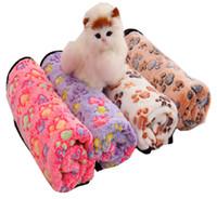 Couverture de Dog Creative Dog Bed Tapis Corail mou Toison Paw Foot Print couchage chaud Lits Couverture Mat Pour Petit Moyen Fournitures Chiens Chats