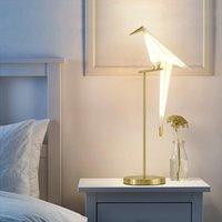 Oscilación moderna del hierro del pájaro de Origami de lámpara de mesa de noche dormitorio de lectura LED Desk Light Fixture TA208