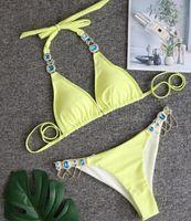 heißes Kleid Bademode 2020 Sport Bikinis eingestellt sexy Kristall-Diamant-Verband rot geteilten europäischen und amerikanischen Frauen-Badebekleidung Dropping Accepted