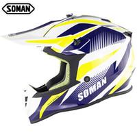 Arrivée Soman Motocross Helmet Casque Casque Casque Casque MX Dirt Vélo Cycling Casco CEE Approbation SM633