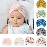 Цветок Девочки оголовья новорожденного Детские Тюрбан Мягких Beanie Hat Cap Фото Реквизит H3CD