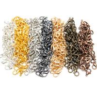 100pcs / lot de aleación de zinc de pinza de langosta Cierres para los collares de la joyería de DIY que hace pulsera, nave libre del níquel (12x7mm)