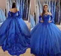 Kraliyet Mavi Prenses Quinceanera Elbiseler 2020 Dantel Aplike Boncuklu Sevgiliye Dantel-Up Korse Geri Tatlı 16 Elbiseler Balo Elbise M118
