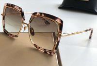 Sköldpadda / guld torg solglasögon brun gradient linser 503 solglasögon kvinnor solglasögon glasögon ny med låda