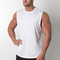Brand New Plain Tank Top Men Bodybuilding Singlet Gyms Strin...