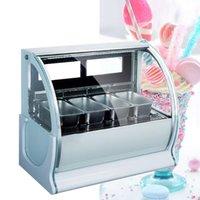 220V Nueva vitrina de helados de tienda de supermercado bebida fría vitrina gachas restaurante de hielo helado