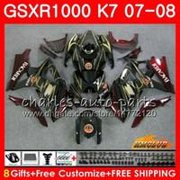 Bodywork Bacardi Bats Nuevo para Suzuki GSXR-1000 GSXR1000 2007 2008 07 08 BODY 12HC.16 GSX R1000 GSX-R1000 K7 GSXR 1000 07 08 Kit de carenado ABS
