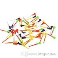 Golf gros-plastique T-shirts Multi Color caoutchouc Coussin Top Golf Tee 80mm Golf Accessoires 100 pièces / Lot hxl