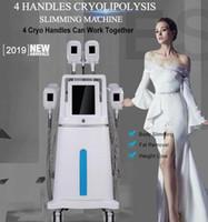 2019 mais recentes 4 alças trabalhando juntos Cryolipolysis + cavitação + RF + LipolaseR Multifunction ultracavitador gordura congelamento Máquina de emagrecimento