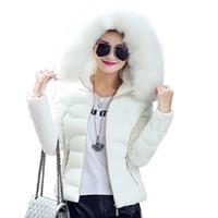 Mujer de alta calidad de invierno de piel grande con capucha con capucha de piel con capucha prendas exteriores femeninos damas cálidas chaqueta básica corta delgada jaqueta femenina mejor s-3xl