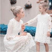 Teenmiro Vestidos para madres e hijas Apariencia familiar Ropa Moda Vestidos de encaje para padres e hijos Mamá Bebé Trajes Ropa Vestido para mujeres