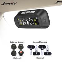 Jansite Solar TPMS Автомобильный монитор системы контроля давления в шинах Дисплей, прикрепленный к стеклу tpms Предупреждение о температуре с 4 датчиками BAR
