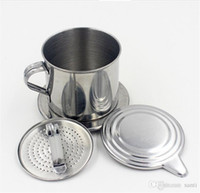 Кухня Столовая Бар Кофе Чай Инструменты из нержавеющей стали вьетнамцы капельного кофе фильтр чайник для заварки Pot
