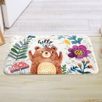 Cue Bear Cartoon Door Mat Sitting Room Thickened Floormat Be...