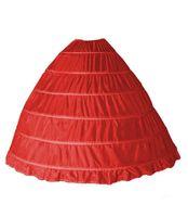 6つのスチールのスモックスカートのウェディングスカートサポート衣装のペチコート6の遅れスカートを増やすための糸がない