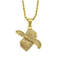 NUOVA Collana con la collana ghiacciata personalizzata in contanti in denaro con pendente con pendente solido mens hip hop oro verde argento catene di fascino donne regali di gioielli da donna