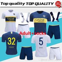 fb11bccb4121b Adultos nuevos kits Boca Juniors Camisetas de fútbol GAGO CARLITOS HOME  AWAY Camisetas de camiseta de