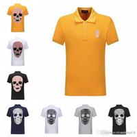 여름 2019 패션 남성 의류 핫 드릴 인간의 두개골 반팔 폴로 디자이너 t 셔츠 여성이 2 분기 정점에 망