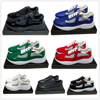 Gli uomini di moda Scarpe casual America Designer Cup in pelle scarpe da tennis e brevetti di nylon di lusso Sneakers mens shoe