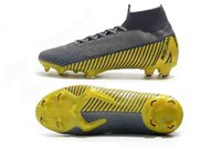 2019 Mercurial Superfly VI 360 Elite FG Bambini Tacchetti da calcio da uomo Cr7 chaussures Crampons de football botas Game Over Eur 39-45