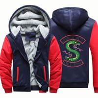 Fleece Mens Designer Hoodies Cardigan Zipper RIVERDALE Print...