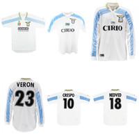 1999 2000 2001 Lazio longe retro jersey camisa de futebol clássica do vintage SALAS Mihajlovic VERON STANKOVIC MANCINI NESTA Nedved INZAGHI Crespo