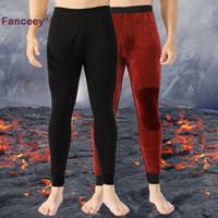 Fanceey roupa interior térmica por Homens Winter Long Johns Homens de lã grossa Leggings inferior térmica no frio tamanho Weather Plus