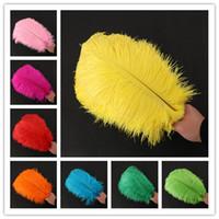 30-35 см перо страуса для свадьбы деятельности партии Праздничное оформление этапа исполнение цветов красочные перья освобождают перевозку груза