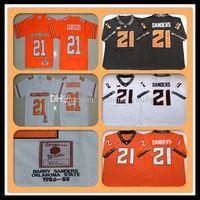 1986-1988 Ретро NCAA Men Oklahoma State OSU 21 Барри Сандиерс колледж футбольные трикотажные изделия Дешевые Sanders университет футбольные рубашки Orange