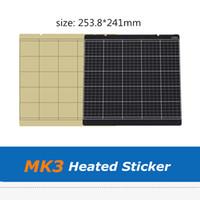 2pcs Black / Gold Prusa I3 MK3 MK2.5 MK52 Heatbed Наклейка Очаг Платформа Лист 253,8 * 241 мм с лентой 3M для 3D части принтера