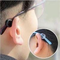 Hoge kwaliteit glazen oorhaken ronde anti slip siliconen grepen brillen sport tempel tips 100pair / lot