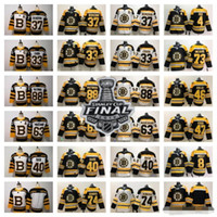 2019 Stanley Cup 보스턴 Bruins 블랙 세 번째 찰리 McAvoy 저지 Jake Debrusk Zdeno Chara Patrice Bergeron Brad Marchand Orr David Pastrnak