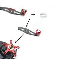 Pesca adaptador Brazo de bobina Rocker tubo del mango Para el montaje Agujero Cambio 8 * 7 * 5 mm a 4 mm de pesca Pesca de accesorios para herramientas de aluminio
