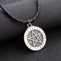 Collar de pentagrama Collar de declaración religiosa sobrenatural Escudo judío Joyería de la estrella de David Collar de encanto de mejores amigos