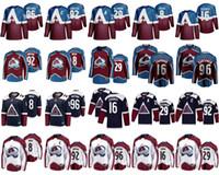Colorado Avalanche Hokey Formaları 92 Gabriel Landeskog Jersey 96 Mikko Rantanen 8 Cale Makar 29 Nathan Mackinnon 16 Nikita Zadorov Dikişli