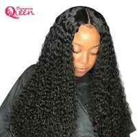 Dreaming Kraliçe Kısa Kıvırcık Dantel Ön İnsan Saç Peruk Ön Koparıp Bebek Saç Ile Brezilyalı Remy Saç Bob Dantel Siyah Kadınlar Için Ön Peruk