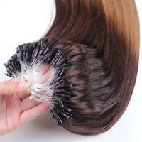 عالية الجودة بشرة محاذاة البرازيلي 50 جرام مستقيم الطبيعية الأسود البني شقراء العذراء ريمي الشعر الإنسان ملحقات مايكرو حلقة الدائري