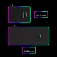 빛 마우스 패드 LED 300 * 800 * 4mm 컴퓨터 두껍게 RGB 게임 경쟁 키보드 데스크탑 마우스 패드 (5) 크기 DHL 무료