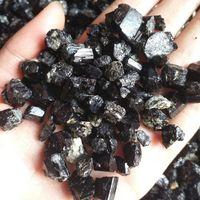 Gros 100g Naturel Tourmaline Noire Brut Cristal De Quartz Brut Cristal De Gravier Roulé Pierre Reiki Guérison pour démagnétisation
