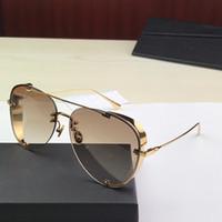 Best-seller estilo stellaire 0363S pilotos sem moldura pernas de couro moldura de grife de alta qualidade óculos de proteção anti-UV Unidade glasse