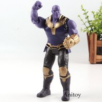 Action Figure Marvel Avengers 3 Infinity War Figure Thanos PVC Avengers Infinity War Thanos Figure Giocattoli da collezione Modello Light