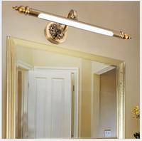 48 cm / 57cm / 68cm Lâmpada do espelho do banheiro impermeável Retro Bronze Armário Vanity Luzes Espelho LED Lâmpada de Luz de Luz LED Lâmpada de Parede