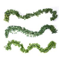 Nouveau design 12pcs / Lot long Plantes artificielles vert Feuilles de lierre artificiel d'escalade Tiger vigne Fausse feuille feuilles mariage Home Décor