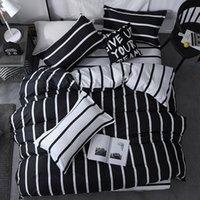 55 Stripe Cor Bed cobre os conjuntos de tamanho Twin / Full / Queen / King / Super King Quilt Tampa Folha de cama fronha cama Set