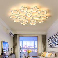 lustre de plafond moderne Schlafzimmer Wohnzimmer Deckenleuchten mit Fernbedienung plafonnier Moderne Deckenleuchte 110V 220V