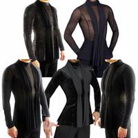 2018 Latin Dance Shirts der Männer Standardtanz Wear Adult Standard-Tops Leistung Wettbewerb Kleidung anpassen Kleidung DN1323