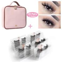 En gros 30/50 paires / lot cils 3d vison cils extension naturelle longue Faux cils 1pcs femmes imperméable maquillage Kit Kit